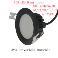 12W IP65 LED Downlight Waterproof LED Down Light IP65 4pcs Thick Housing 100 110LM W Warranty
