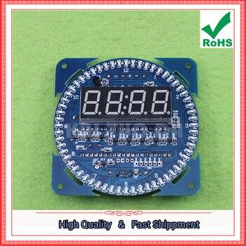 Obrotowy wyświetlacz LED kreatywny zegar elektroniczny DIY DS1302 zegar elektroniczny zegarek budzik budzik 0.15kg