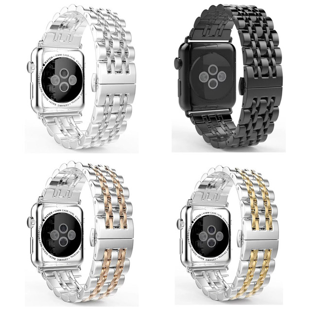 Stevige 316L Roestvrij Stalen Band Voor Apple Horloge Serie 5 4 3 2 1 Band Vlinder Gesp Armband Voor Iwatch 44Mm 42Mm 40Mm 38Mm
