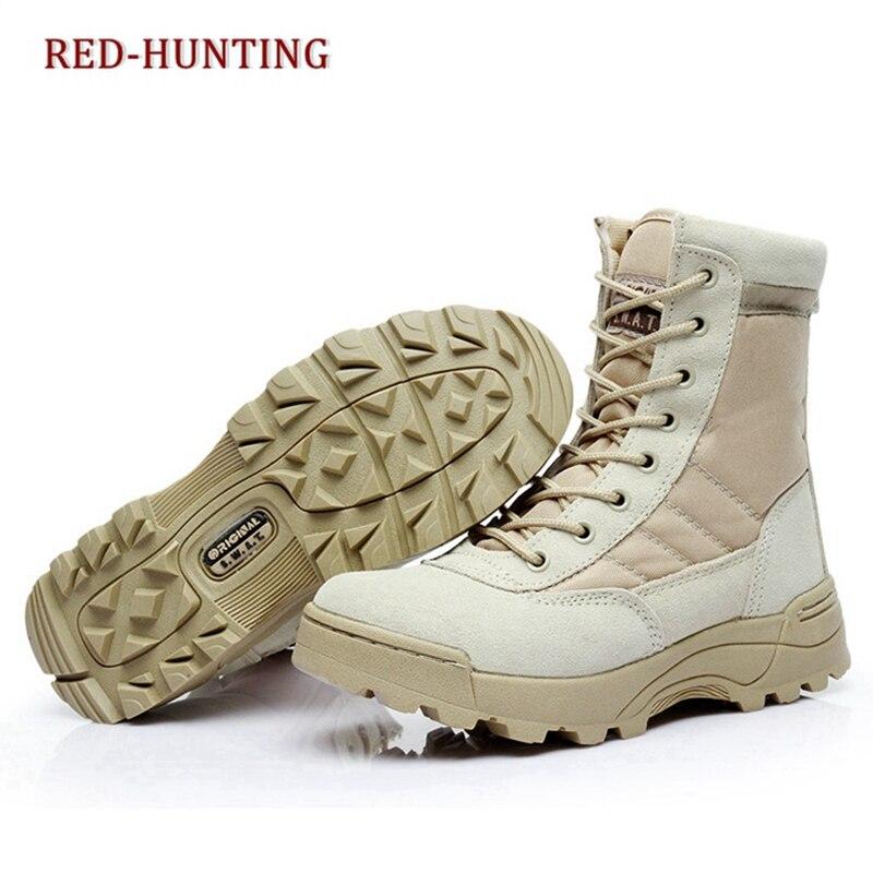 Men Army Boots Hiking Male Zipper