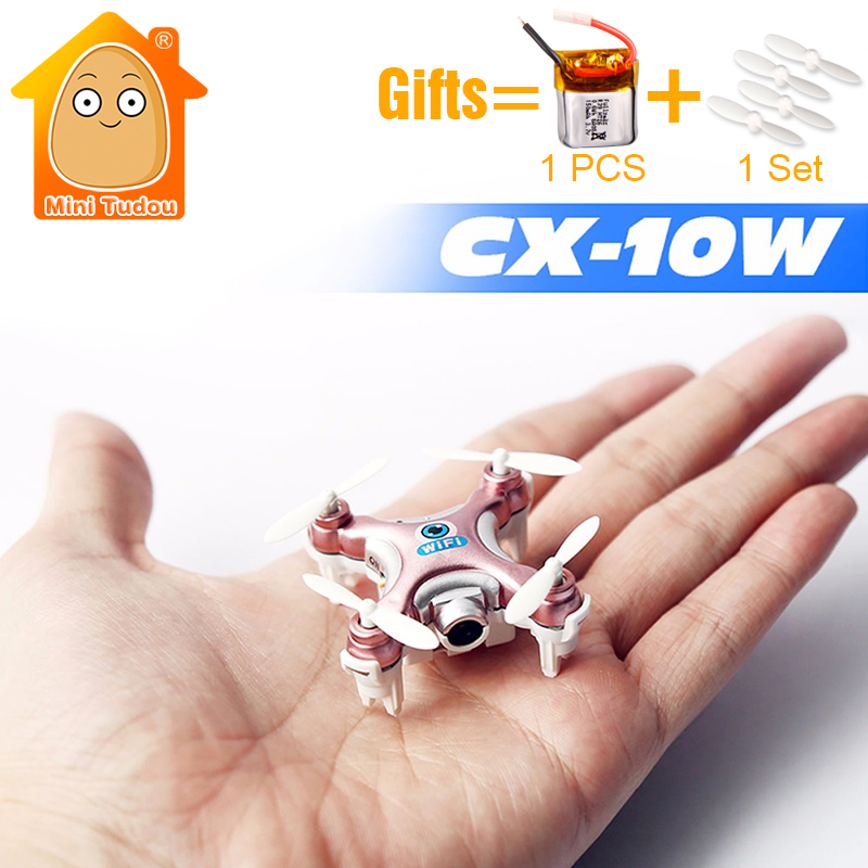 MiniTudou 3 Colors Mini Remote Control Helicopter CX-10W CX10W CX-10W-TX RC Quadrocopter With Camera Mini Drones Dron FPV mini rc helicopter cheerson cx 10w upslon cheerson cx 10wd rc quadrocopter with camera mini drones remote control fpv wifi drone