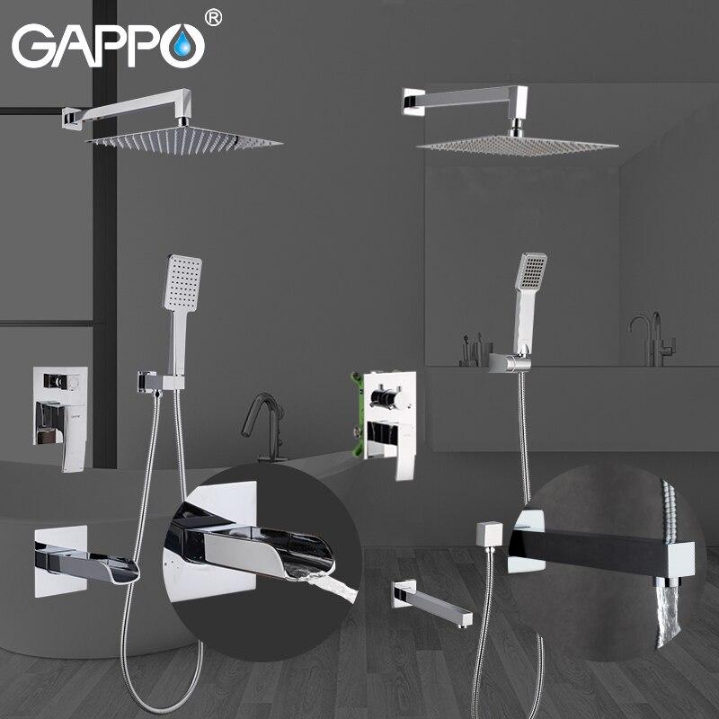 GAPPO Bathtub Faucets bathroom faucet tap bathtub shower bath mixer faucet set waterfall shower chrome rain
