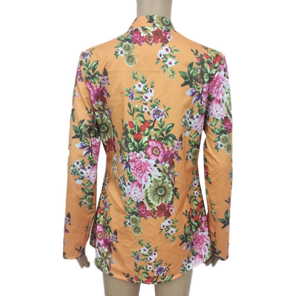 2018 New Echo657 Women Vintage Floral Print V-neck Tunic Tops 2018 Womens Fashion Blouses Women Clothes Hot Sale