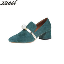 Womens Wedges New Suede Fashion High-heeled Shoes With Wild Sexy Shoes Pointed Suede Women Bag And Shoes Match Vintage Pumps