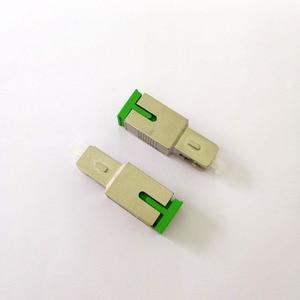 Image 2 - Free Shipping 2pcs/lot Fiber Optic SC APC Female to SC UPC Male Adapter
