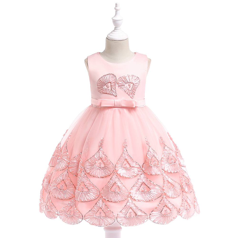 Brand Elegant Kids Girls Evening Gowns Party Girl Dress up Children Wedding Prom Dress Sequin Girls Clothes Princess Costume 10y sequin embroidered zip up jacket