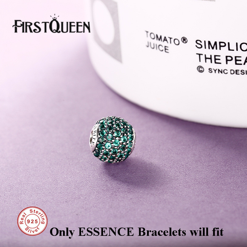 FirstQueen Genuine Silver 925 Propersity Beads Fit Essence Bracelet Silver 925 Original DIY For Jewery Making Fine Jewelry