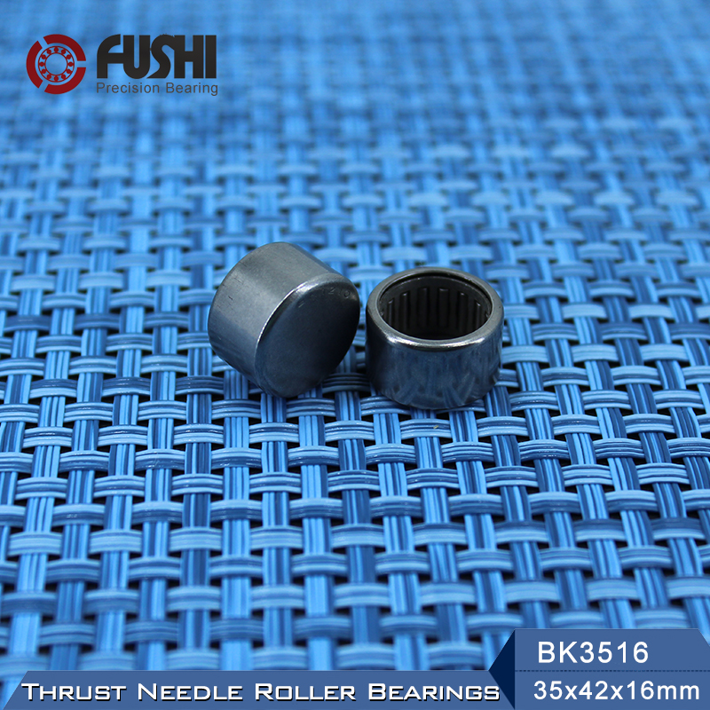 BK3516 Needle Bearings 35*42*16 mm ( 1 Pc ) Drawn Cup Needle Roller Bearing  BK354216 Caged Closed ONE End 45941/35 nk38 20 bearing 38 48 20 mm 1 pc solid collar needle roller bearings without inner ring nk38 20 nk3820 bearing