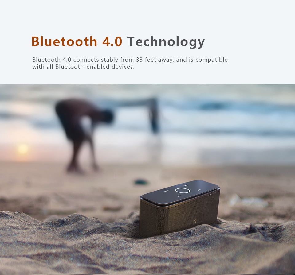 Best Bluetooth Speaker Under 50-Portable Small With Touch Control