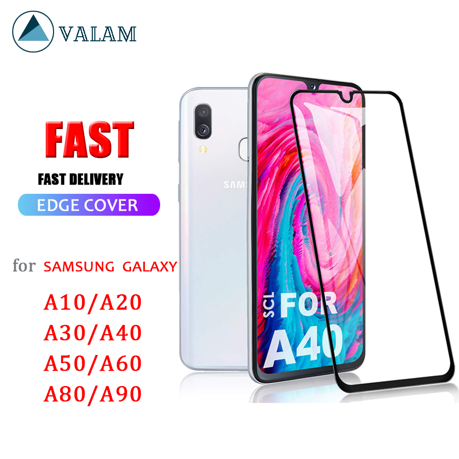 Tempered Glass Screen Protector For Samsung Galaxy A40 A50 A10 A20 A70 A30 Protective Glass Full Cover Galaxy A10 A40 A50 Glass