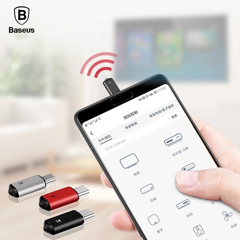 Baseus Mini llavero de Control remoto para Samsung Huawei tipo-C USB-C interfaz Smart IR adaptador de controlador para TV aire acondicionado