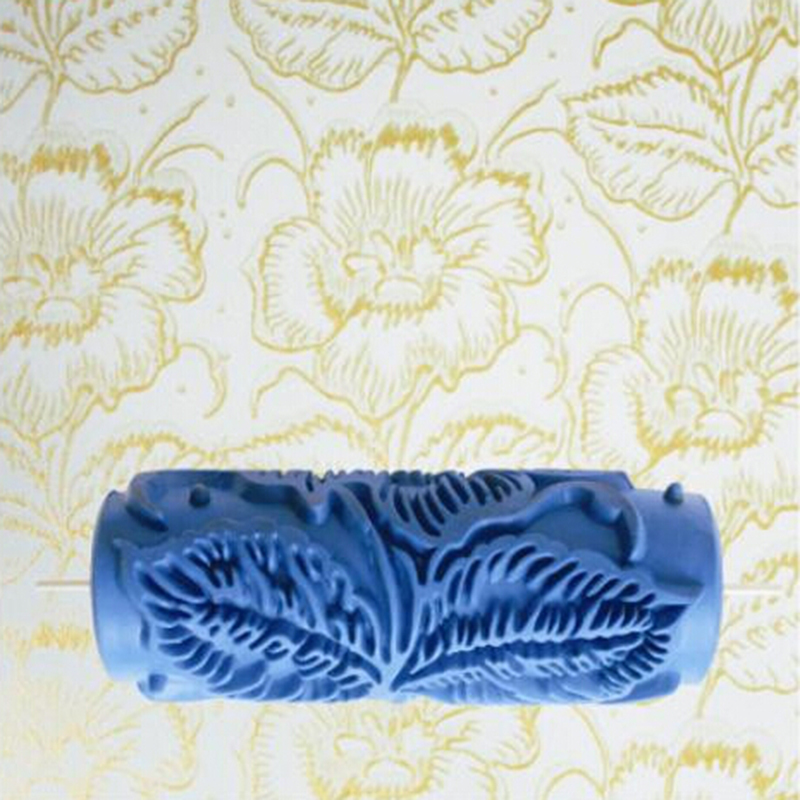 """Kuummüük DIY 5 """"3D-kummist dekoratiivne seinavärvimisrull, seinamustrikujundusrull, lillemuster, 085Y, tasuta saatmine"""