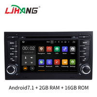 LJHANG Two Din 7 Inch Android 7 1 Car DVD GPS Radio For Audi A4 S4