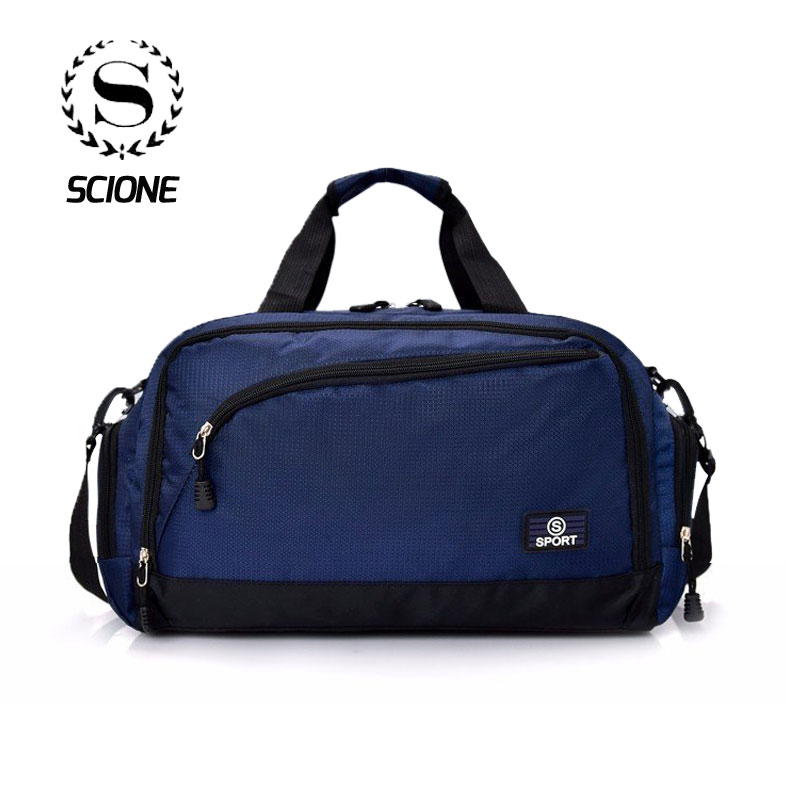 Scione Women Waterproof Sport Travel Bags Men Large Capacity Nylon Luggage Handbags Simple Outdoor Fitness Casual Crossbody Pack
