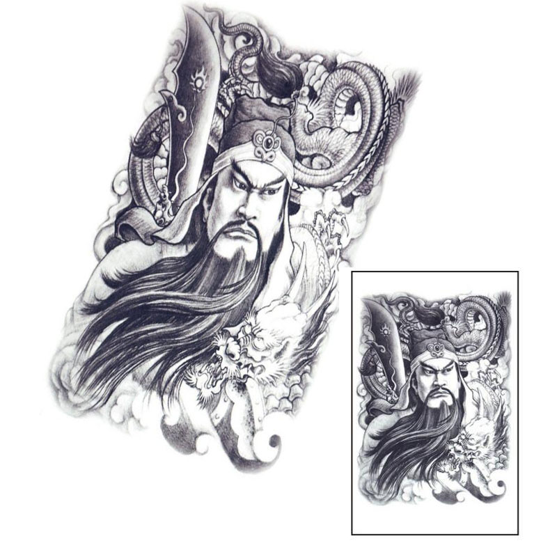 1PCS Large Sketch Figure Dragon Waterproof Temporary