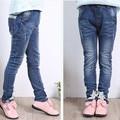 2017 de Diseño de Moda Niñas Niños Jeans Pantalones de gama Alta Pantalones Casuales Niños Pantalones de Ropa de Las Muchachas del Niño de la Muchacha Para 12 años de Edad SKP165016