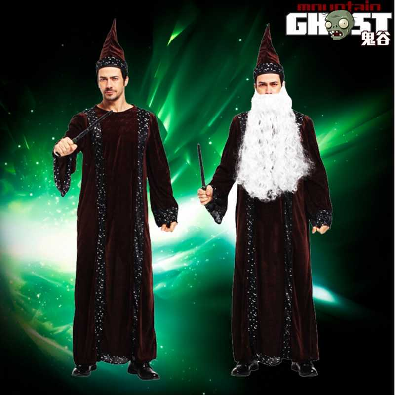 f266b803dc2 Halloween Costumes For Men Adult Cosplay Wizard Costume Fancy Dress Cosplay  Costume For Men