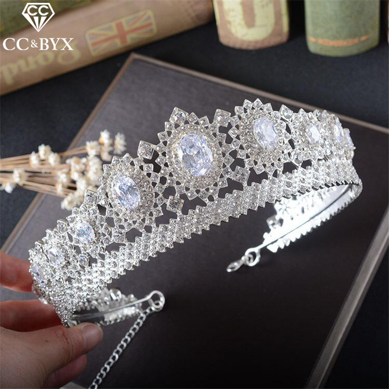 CC Jewelry crown and tiara queen luxury wedding hair accessories for women crowns for be ...