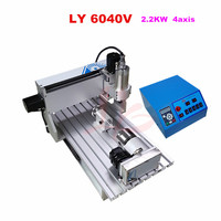 6040 CNC Router 2.2KW 4axis Metal Cutting aluminum frame engraver machine