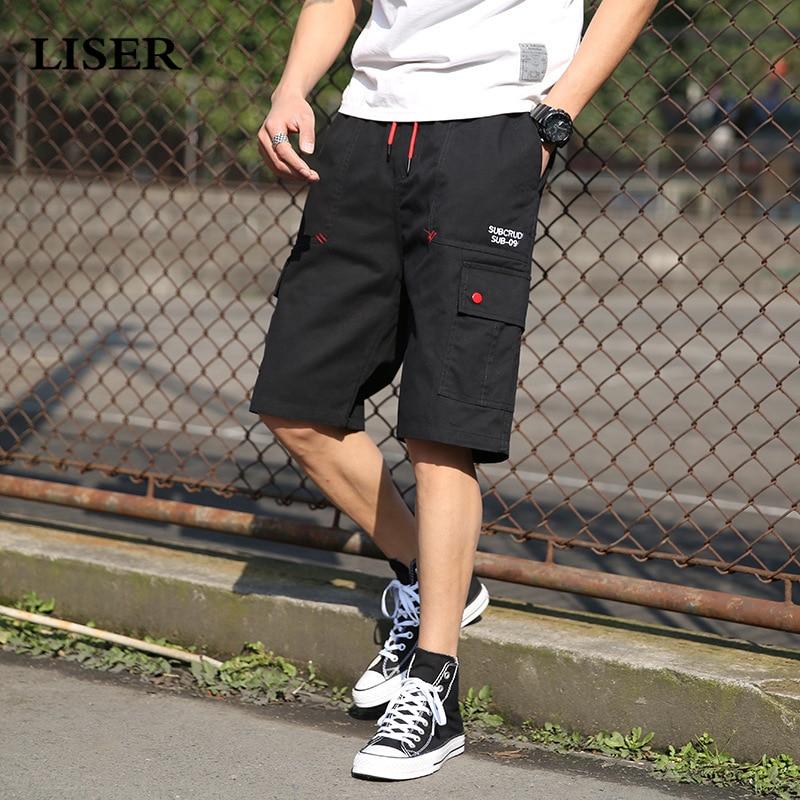 Liser Shorts Men 2019 Summer Joggers Camo Cargo Shorts Men Streetwear Sweatpants Cotton Casual Short Pants
