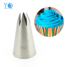 #2110#1M Nozzle Cake Decorating Tips Stainless Steel Writing Tube Icing Nozzle Baking & Pastry Tools Baking Tools For Cakes