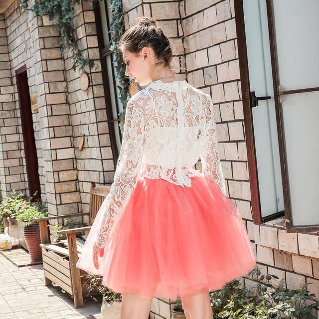 Skirts Womens 7 Layers Midi Tulle Skirt Fashion Tutu Skirts Women Ball Gown Party Petticoat 2019 Lolita Faldas Saia 4
