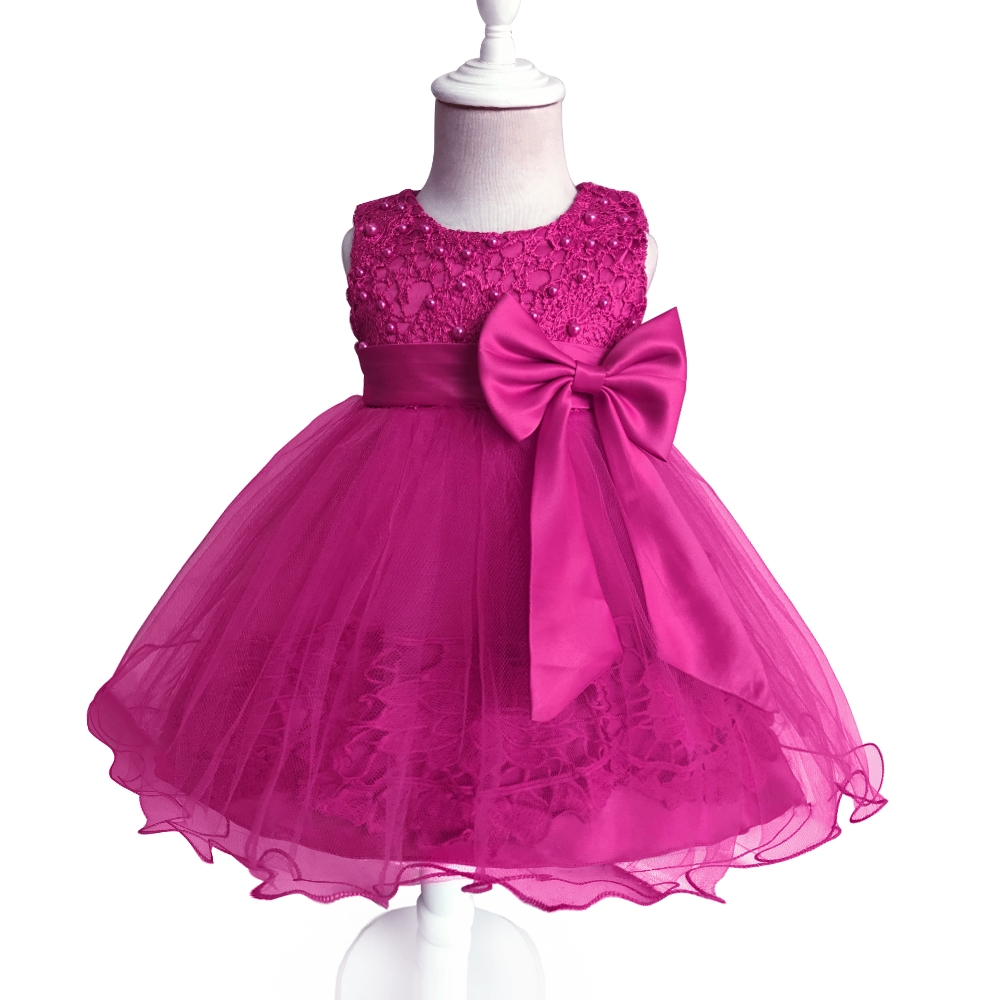 Free Shipping Formal Cotton Infant Dresses 2018 New Arrival Baby Dress For 1 Year Girl Birthday Toddler Party Gowns For Newborns