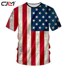 CJLM USA Flag T-shirt Men Sexy 3d Tshirt Print Striped American Flag Men's T Shirt Summer Tops Short Sleeve Tees Plus Size 7XL(Hong Kong,China)
