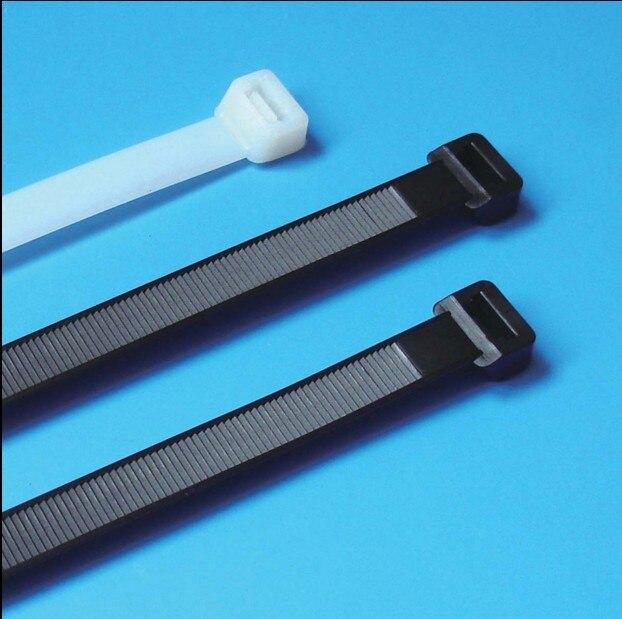 100 pçs/lote 8*500mm largura de alta qualidade 7.6mm cor branca preta auto-travamento plástico cabo de náilon laços fio zip tie bloqueio