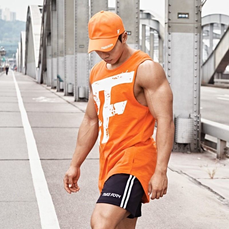 MUSCLE ARMED Gyms Summer Fitness Men   Tank     Top   Mens Bodybuilding Stringers   Tank     Tops   Singlet Brand Clothing men Sleeveless Shirt