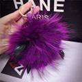 Cute Genuine Rabbit Fur PomPom Key Chain Women Trinket Rabbit Toy Doll Bag Car Key Ring Monster Keychain Jewelry Gift