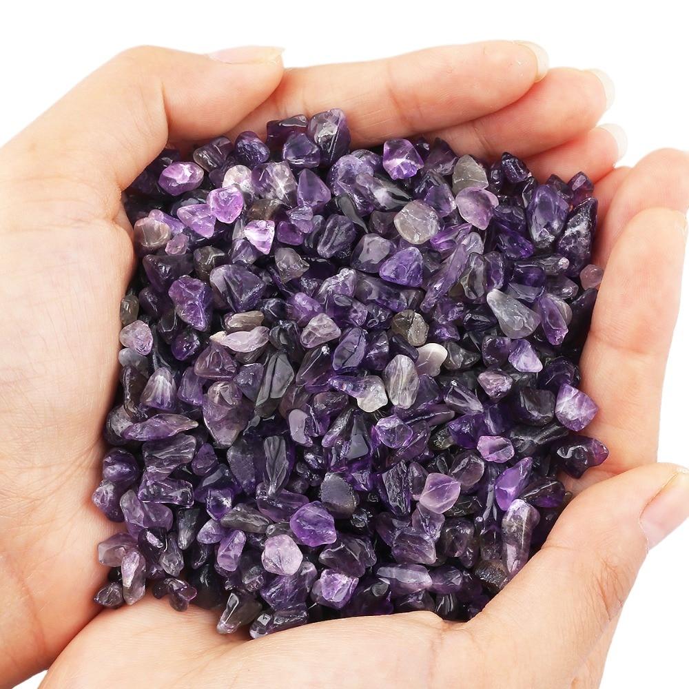 Sunyik 1lb (460 г) фиолетовый кристалл кварца упали щебня камень дробленый штук неправильной формы Камни