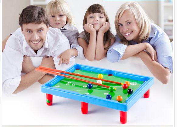 MINI POOL TABLE Flocking desktop simulation billiards Novelty Mini billiards table sets childrens play sports balls Sports Toys