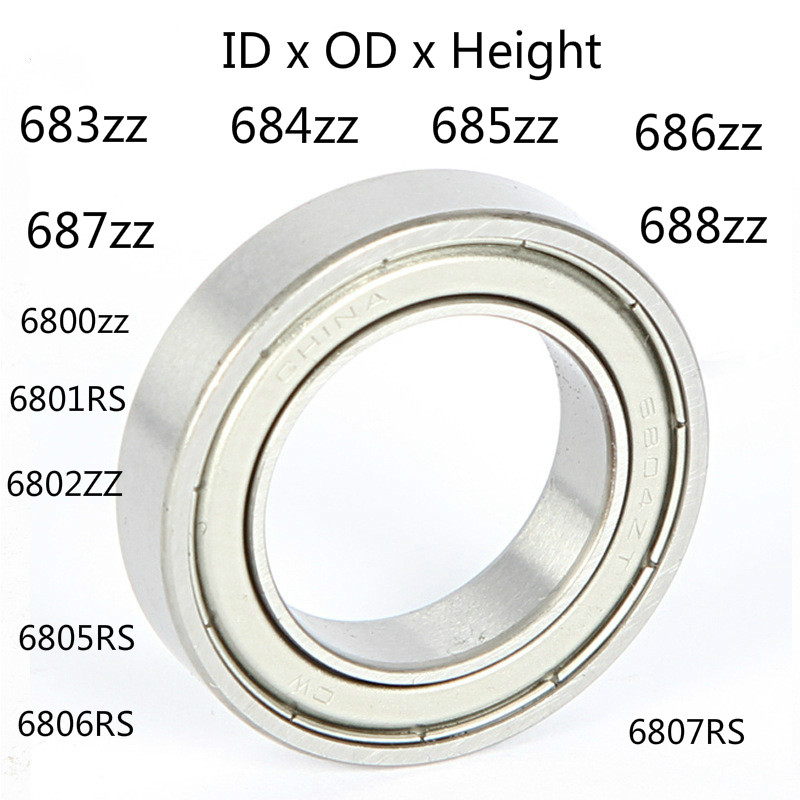 Deep Groove Ball Bearing Metal Shielded Miniature Mini Small Ball Bearing 683zz 684zz 685zz 686zz 687zz 688zz 6800zz 6801zz