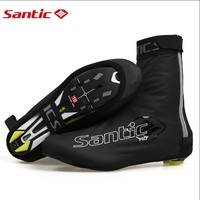2019 SANTIC Cycling Shoe Cover Reflective Waterproof Windproof Shoe Covers Bicycle Overshoes MTB Bike Road Ciclismo Boot Cover
