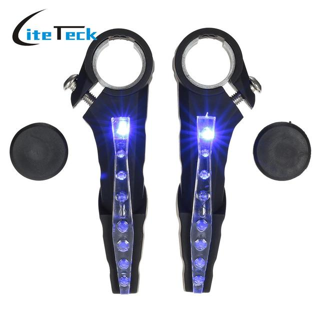Mtb riding cycling bar lights reflective nocturnal light led mtb riding cycling bar lights reflective nocturnal light led waterproof bicycle bike handlebar bar end lights mozeypictures Choice Image