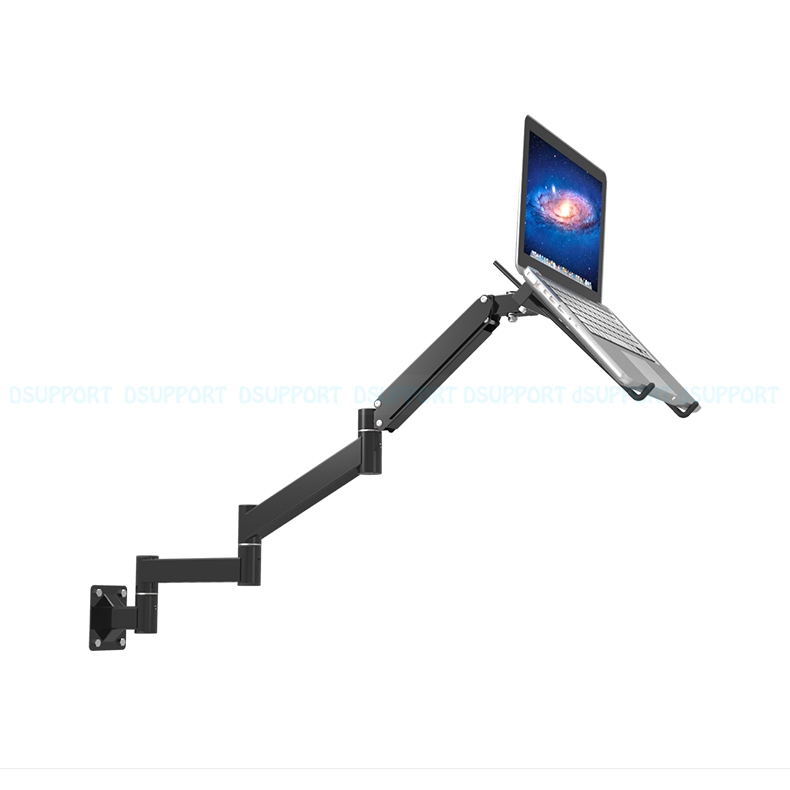 Tilt Foldable Wall Mount 17-27 inch Laptop Holder Ultra Long mechanical spring Arm Laptop Cooler Retractable Notebook Mount