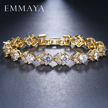 EMMAYA Fashion Gold Color Crystal Cz Bracelet & Bangle New Charm Luxury Lovely Women Bracelet Gift(China)