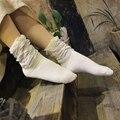 10 Pairs Теплые Носки Женщины Зима Harajuku Смешные Носки блестящий Блеск Длинные Свободные Носки Хлопка Сплошной Для Дам Девочек горячая