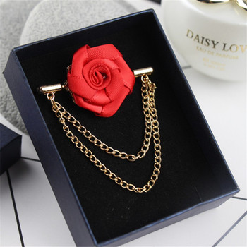 50Piece Fashion Suit Suits Brooch Pins Brooches Men Wedding Rose Flower Chain Leaf Corsage Lapel Pin Brooches фото