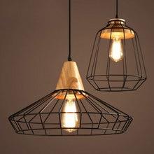 Nordic wrought iron cage chandelier loft retro lighting cafe bar restaurant dining room pub clubhouse wine cellar pendant lamp