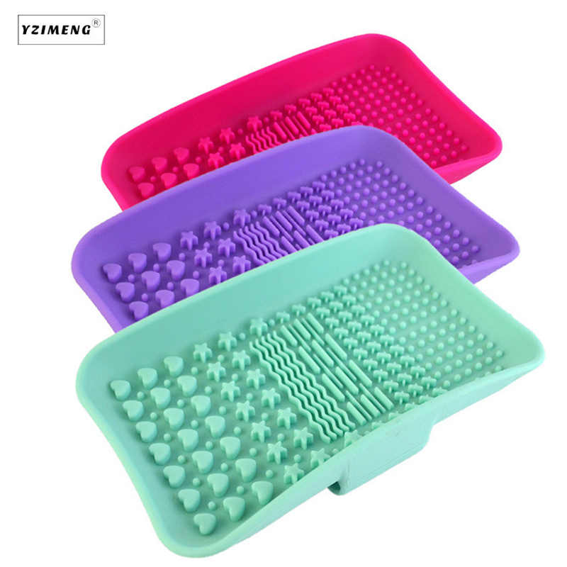 Soap Box Shape Silicone Makeup Brush Cleaner Washing