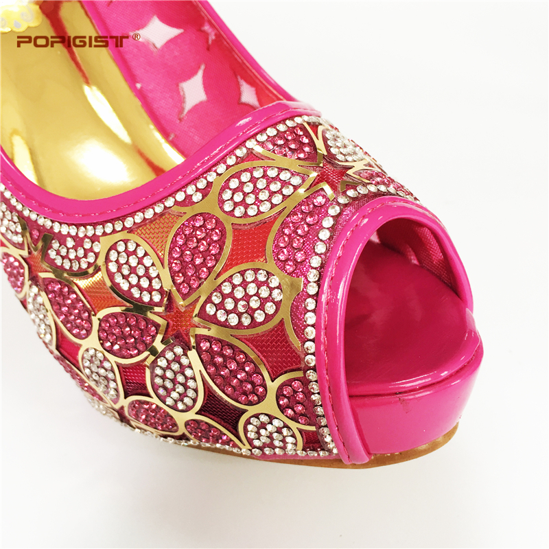 702f1883f1f5 Fuchsia color Italian shoes and bags matching set nice design for lady shoes  and bags set Free shiping by DHL with small heel -in Women s Pumps from  Shoes ...
