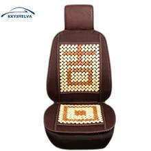 KKYSYELVA 1PCS Summer Universal Auto Car Seat Covers Bamboo Car protector Universal Cushion Car Interior Accessories