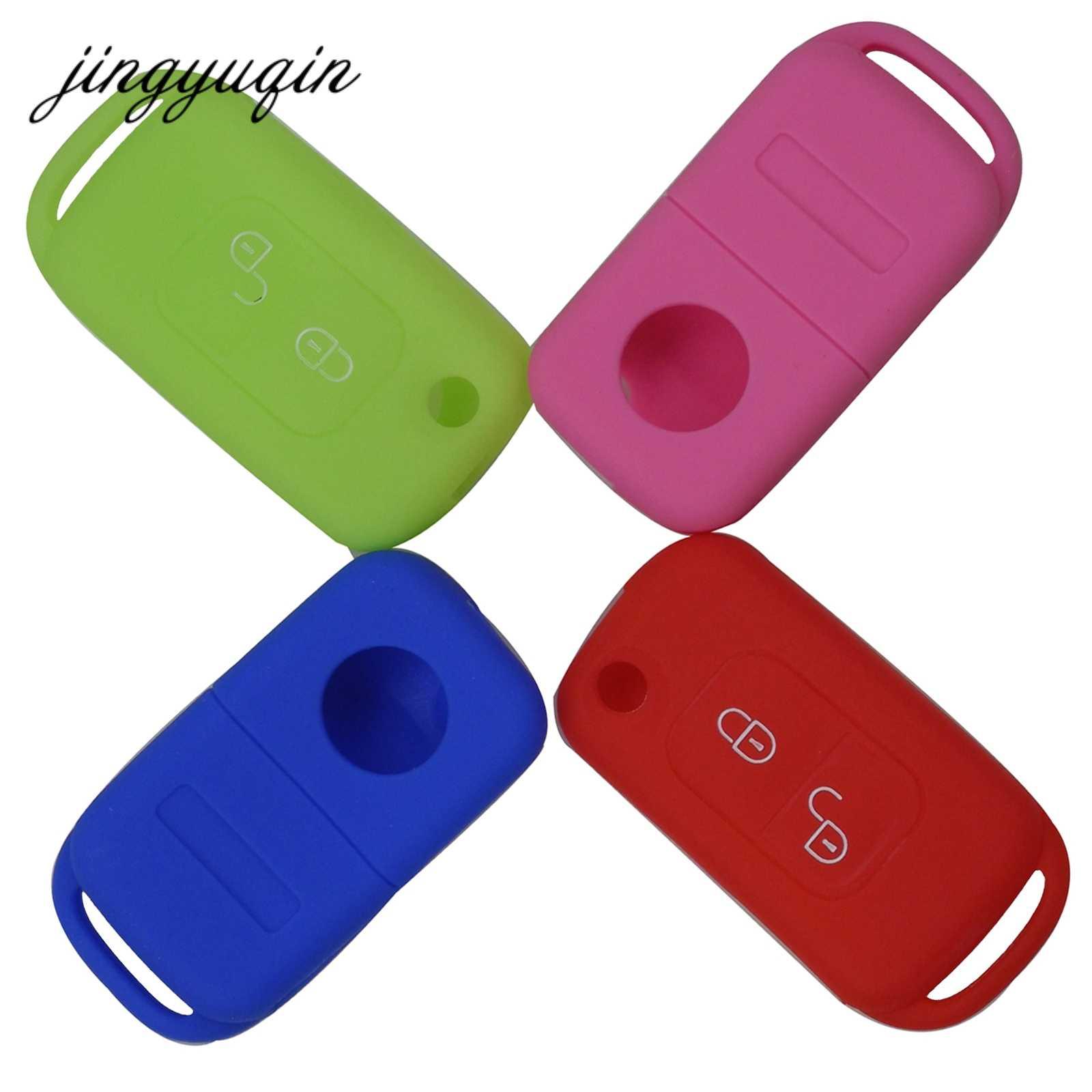 Jingyuqin silikon kapak Mercedes Benz SLK için E113 A C r E r E r E r E r E r E r E r E r E r E W168 W202 W203 çevirme katlanır araba uzaktan anahtar fob durumda 2 düğme