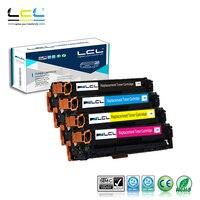 LCL 131X 131A CF210X CF210A CF211A CF212A CF213A (4-Pack KCMY) Toner Kompatibel für HP LaserJet Pro 200 farbe M251nw