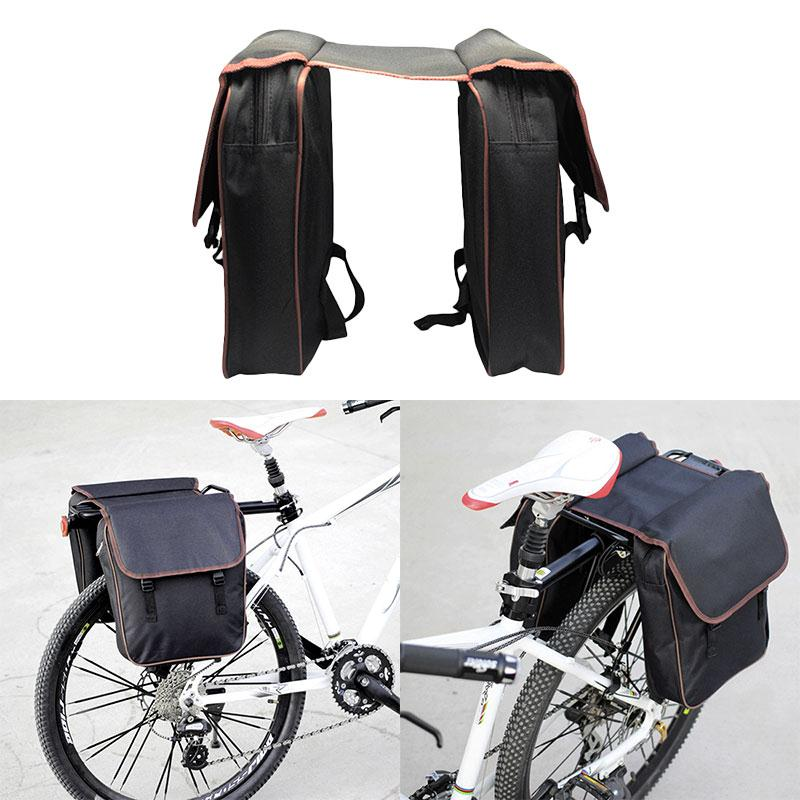 MTB Bicycle Carrier Bag Rear Rack Bike Trunk Bag Luggage Pannier Back Seat Double Side C ...