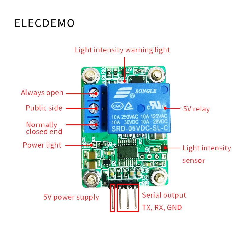 Image 2 - MAX44009 Photosensitive sensor Photoelectric relay module Light intensity detection Serial port computer-in Demo Board Accessories from Computer & Office