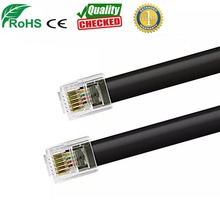 telephony rj12 flat cable rj11 6p6c extension cable