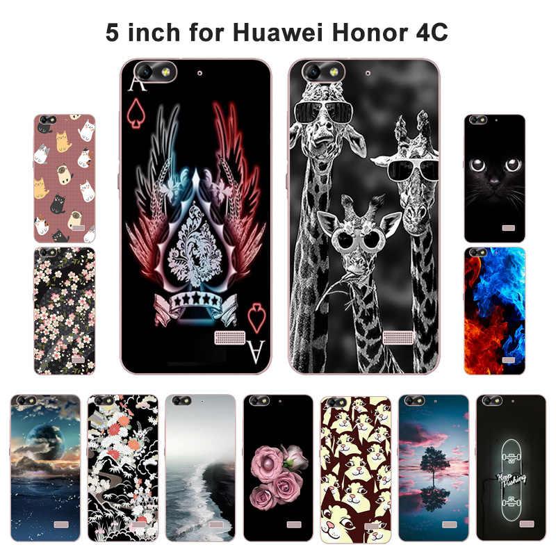Для Huawei Honor 4C, роскошный мягкий силиконовый чехол, окрашенный защитный чехол, задняя крышка для телефона, чехлы для Honor 4C Coque Capa